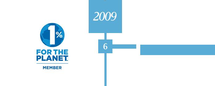 2009 6 1%FOR THE PLANETに日本で17社目として参加